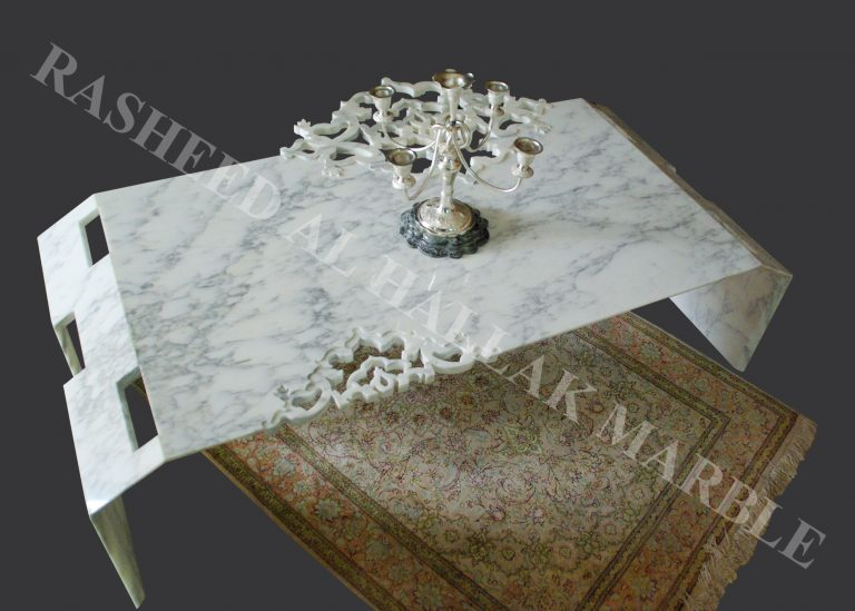 ARABESCATO WHITE MARBLE SITTING ROOM TABLE WITH WATERJET JALEE