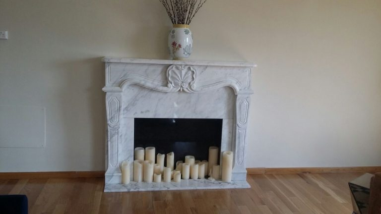 Statuario Carrara Marble Fireplace