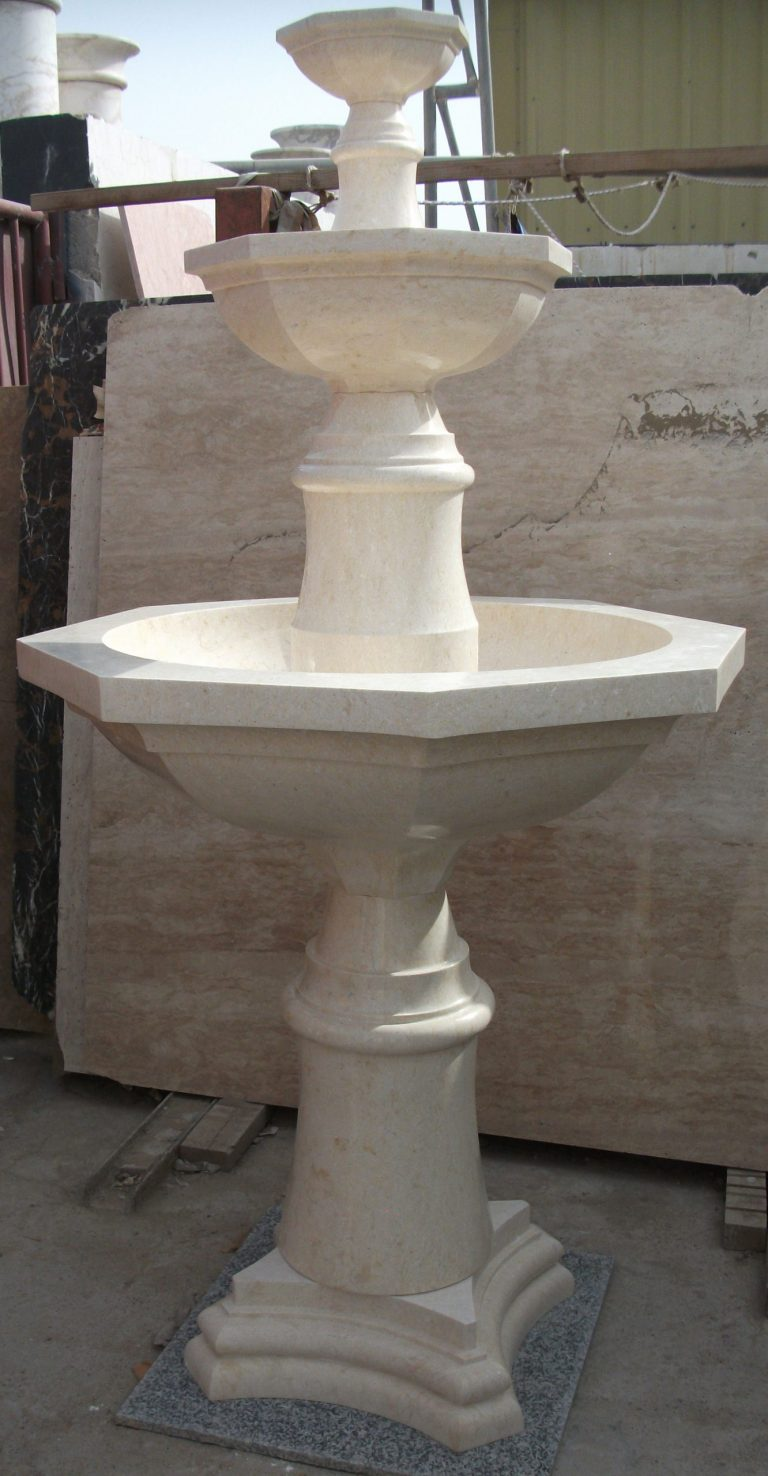 Beige Marble Fountain FOR ARMENIA VILLA