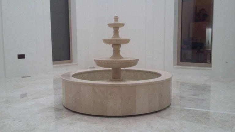 Marble Fountain- Crema Marfil