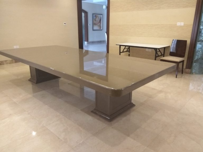 Olive Grey Marble Dining Table