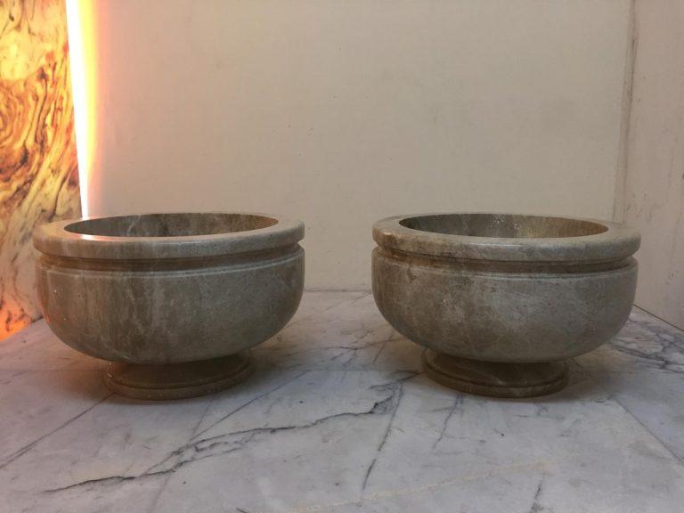 Light Emprador Marble Turkish Bath Bowl/Basin