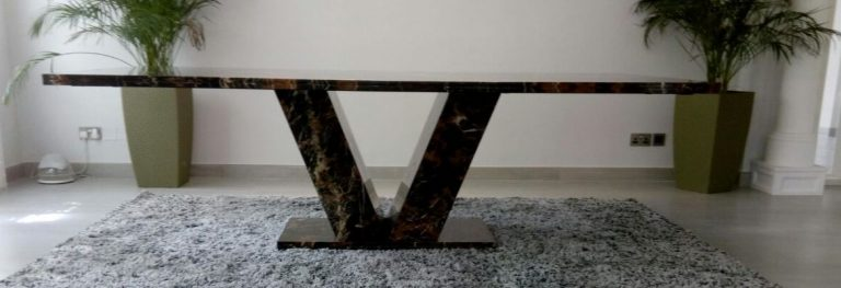 Black and Gold Marble Dinning Table