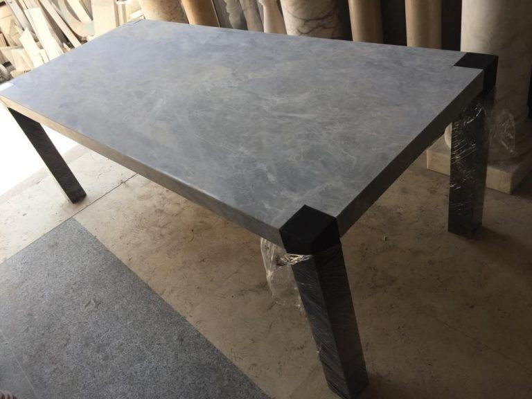 Dining Table- Fior Di Pesco grey marble