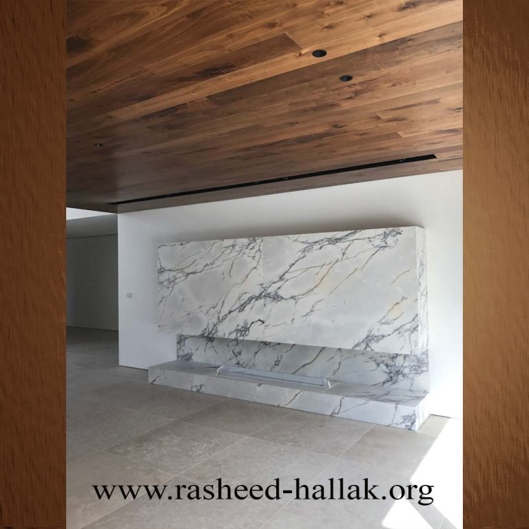 Fireplace in LILAC MARBLE HONED FINISH