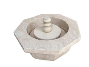Crema Marfil Marble Fountain