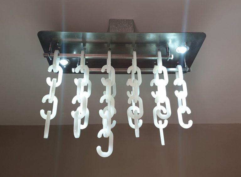 Marble Chain Chandelier
