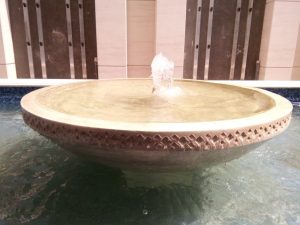 Beige Travertine Bowl Fountain
