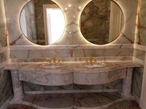 Green Onyx Wash Basin Counter