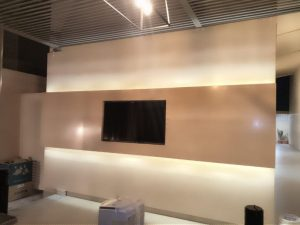 Television (TV) Wall Cladding BEIG TRAVERTINE  HONED